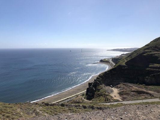 Blick auf die Westküste nahe Las Palmas