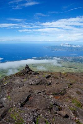Ausblick vom Pico nach Faial