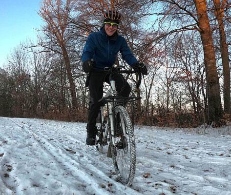 Radfahren bei Schnee und Frost