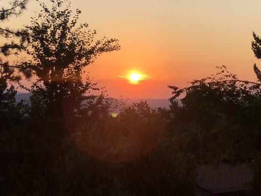 Sonnenuntergang im Apennin