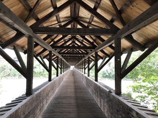 Holzbrücke bei Hall in Tirol