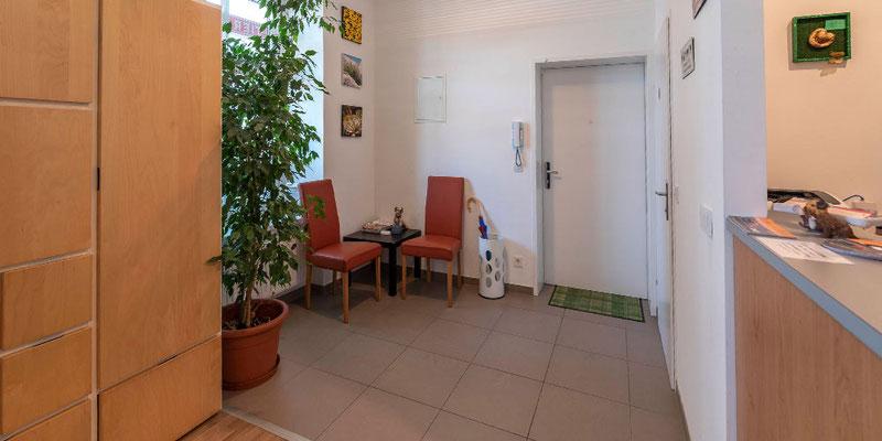 Unser Wartezimer bietet zwei Zonen für Hunde und Katzen.