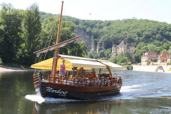 Ballade en gabare sur la Dordogne
