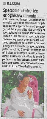 La Charente Libre du 10 septembre 2015