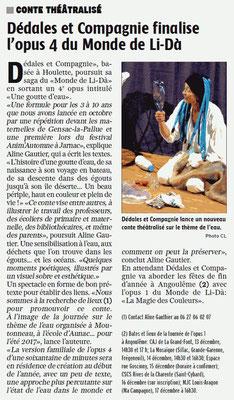 La Charente Libre du 24 novembre 2016