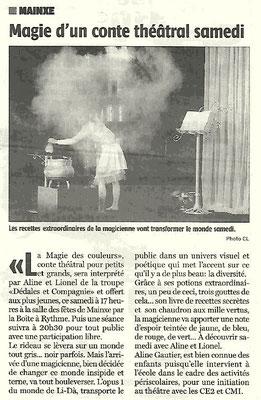 La Charente Libre du 10 décembre 2015