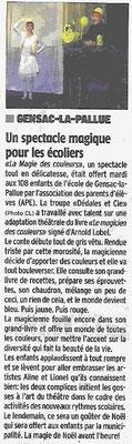 La Charente Libre du 20 décembre 2014