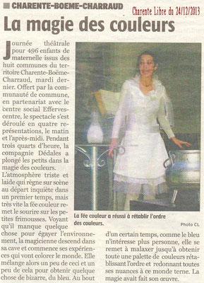 La Charente Libre du 24 décembre 2013