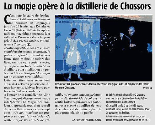 La Charente Libre du 27 décembre 2013