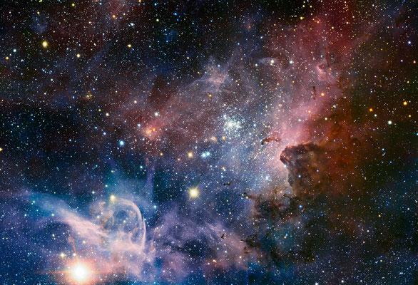 Carina Nebula, Credit: ESO/T. Preibisch http://www.eso.org/public/images/eso1208a/