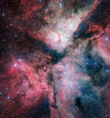 Carina Nebula, Credit: ESO. Acknowledgement: VPHAS+ Consortium/Cambridge Astronomical Survey Unit, http://www.eso.org/public/images/eso1250a/