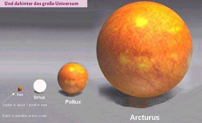 Dahinter das große Universum