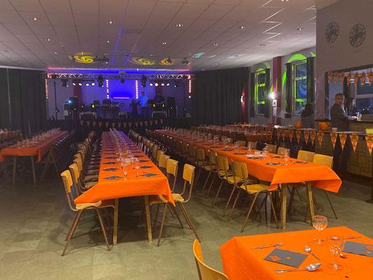 La salle est prête...