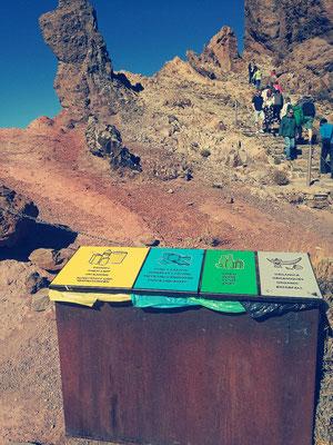 Le recyclage dans le parque national del Teide
