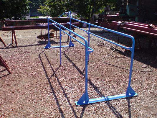 一輪車の練習台