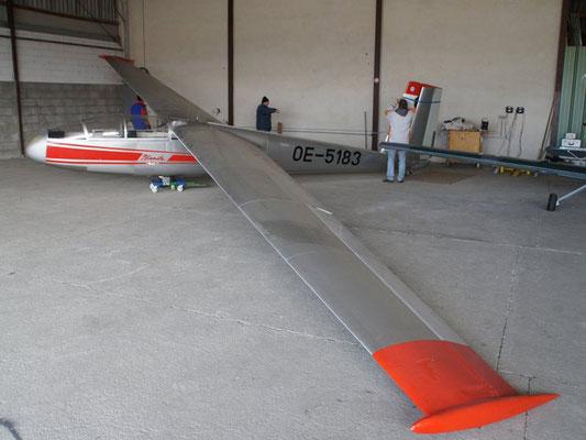 OE-5183 LET Blanik L-13 - Schulflugzeug meiner Freunde aus Wr. Neustadt West, mit dem ich beim Fluglehrerkurs geprüft worden bin.