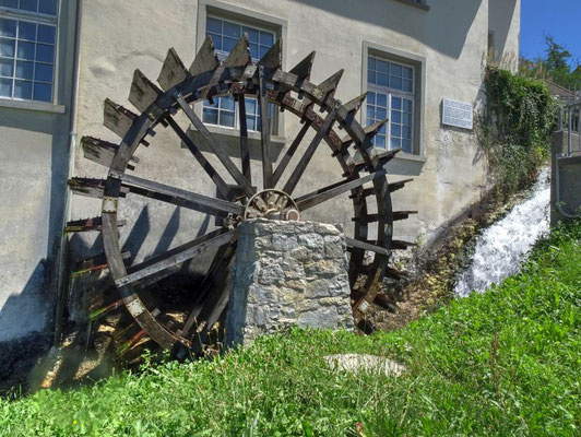 Wasserrad am Rheinfall bei Schaffhausen
