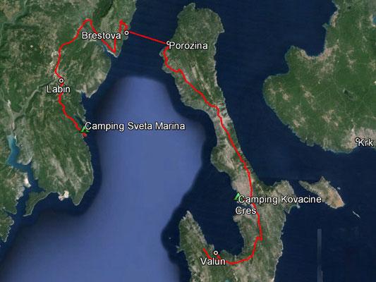 Aufgezeichneter Track aus meinem GPS, 101 km