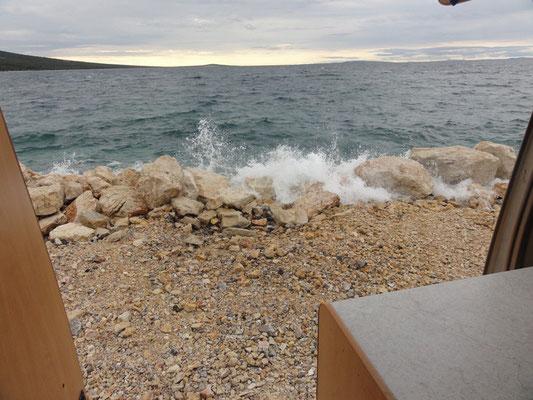 Wellen vor der Haustür