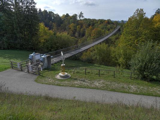 Hängebrücke St. Luzia über die Feistritz