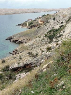 Küste im Süden von Pag