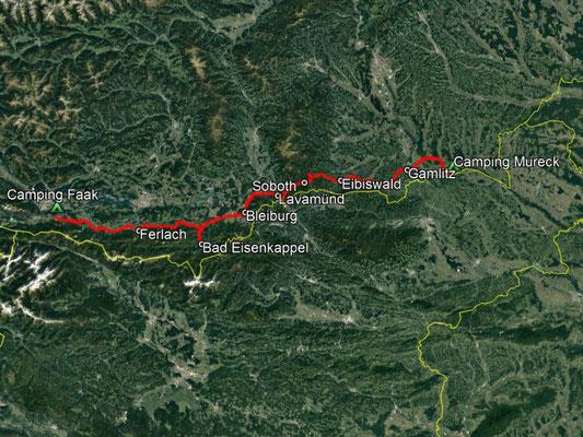 GPS-Track, 212 km