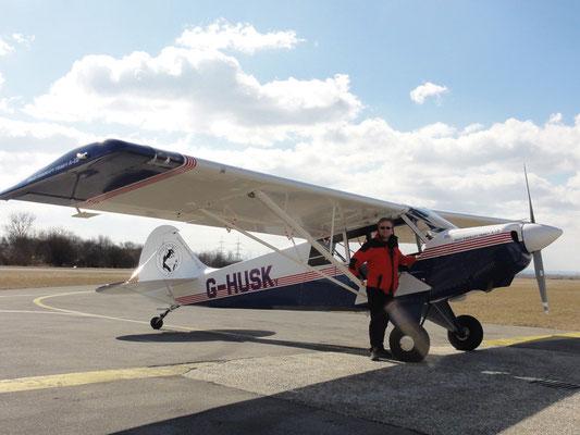 G-HUSK Aviat A-1B Husky - Fun-Flugzeug meiner Freunde aus Niederöblarn, bärenstark und schön zu fliegen.