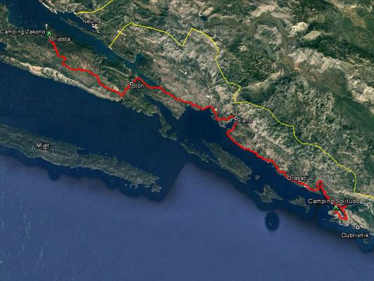 Aufgezeichneter Track aus meinem GPS, 80 km
