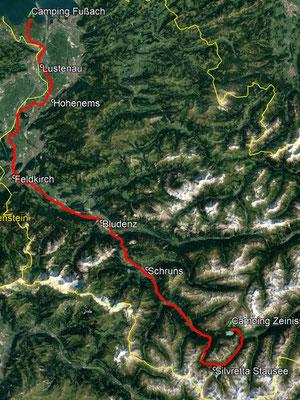GPS-Track, 118 km