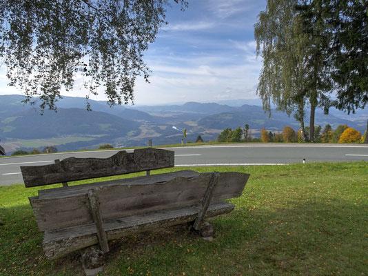Blick vom Magdalensberg bei Lavamünd