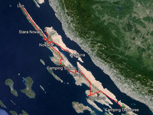 Aufgezeichneter Track aus meinem GPS, 155 km
