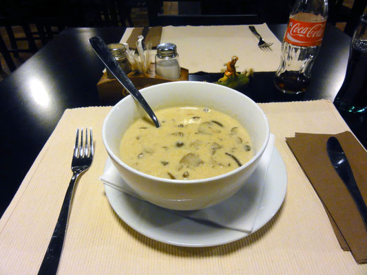 Leckere Pilzsuppe ...