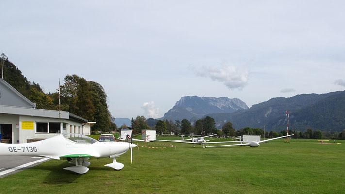 Flugplatz Kufstein, hier bin ich stehen geblieben!