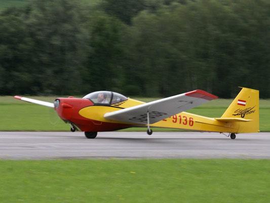 OE-9136 Scheibe SF-25C Falke - Schulungsmotorsegler von meinen Freunden aus Niederöblarn, 80PS in einem Falken machen einfach Spass.