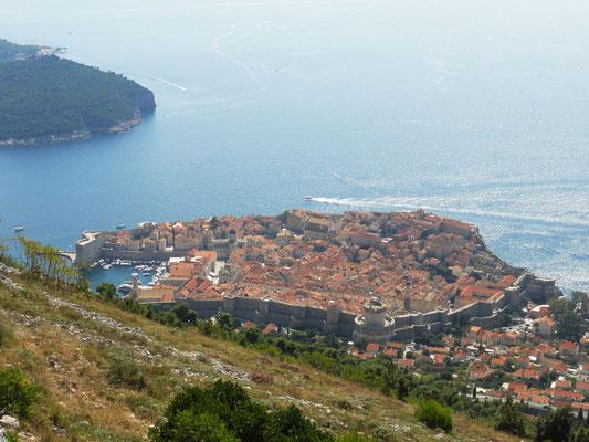 Altstadt von Dubrovnik vom Berg Srd