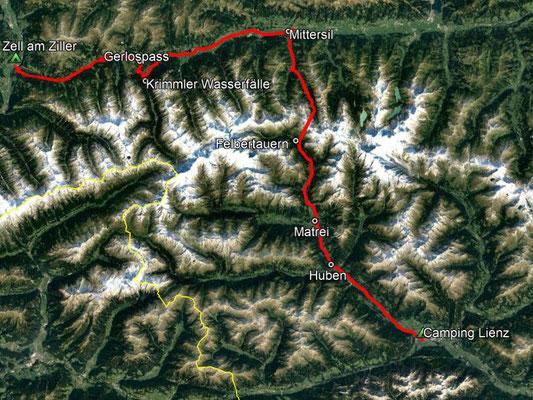 GPS-Track, 132 km