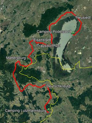 GPS-Track, 148 km
