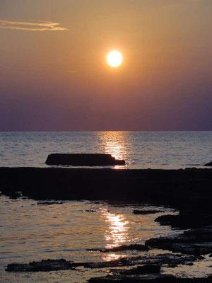 Sonnenuntergang bei Umag