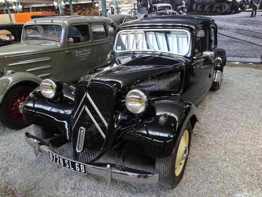Citroën Traction Avant, eh klar in einem französischem Museum