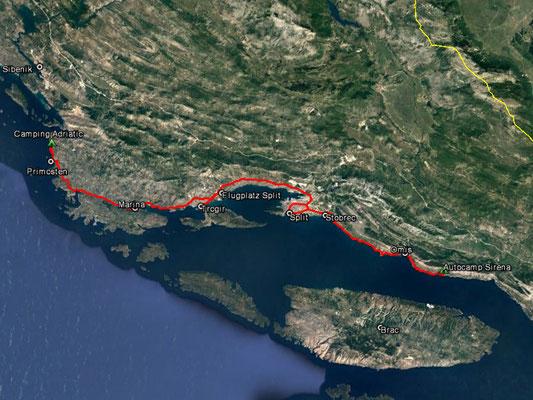 Aufgezeichneter Track aus meinem GPS, 110 km