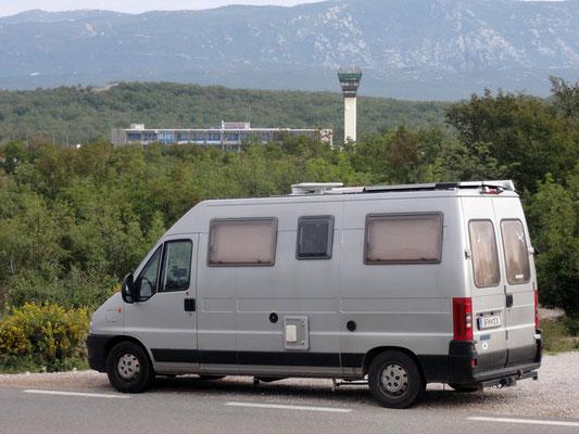 Muss sein - Flughafen Rijeka auf der Insel Krk, wo ich auch schon mal gelandet bin