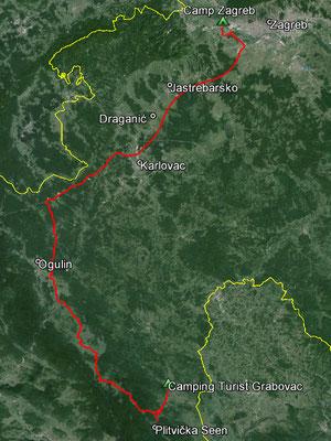 Aufgezeichneter Track aus meinem GPS, 177 km