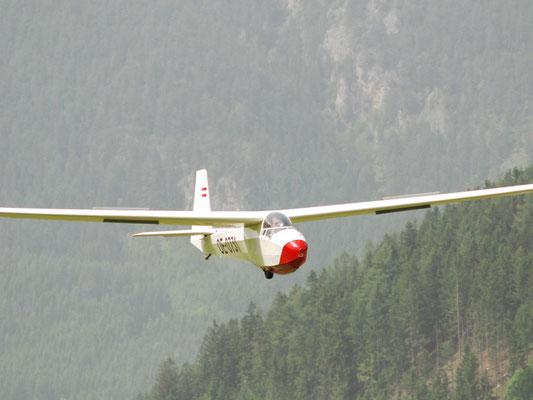 OE-0731 Schleicher K8 - Oldtimer-Segelflugzeug meines Heimatvereines in Stockerau, lustig zu fliegen, made in Austria, nach Niederöblarn verkauft.