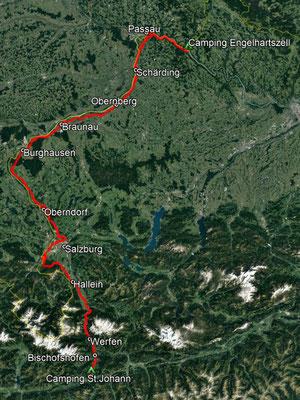 GPS-Track, 266 km