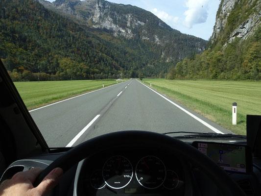 Bundesstraße nach Lofer