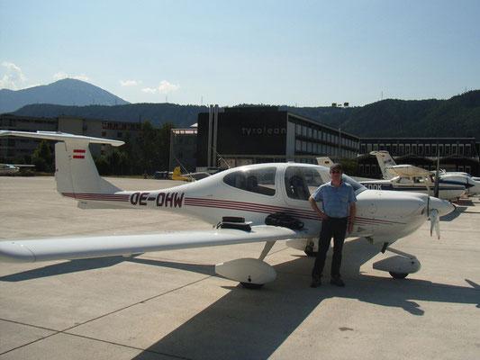 OE-DHW Diamond DA40 Star - modernes 4-sitziges Reiseflugzeug meines Heimatvereines in Stockerau, made in Austria, bin gerne damit geflogen, heute leider verkauft.
