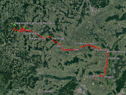 GPS-Track, 254 km