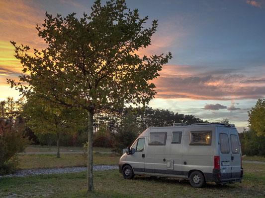 Sonnenuntergang am Campingplatz in Lutzmannsburg