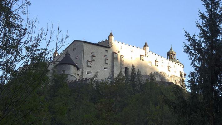 Festung Hohenwerfen im Abendlicht