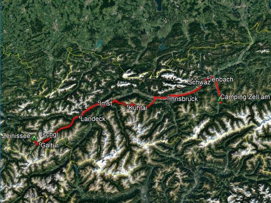 GPS-Track, 196 km